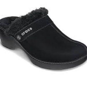 Crocs Cobbler Women's Black Clogs Suede Size 7